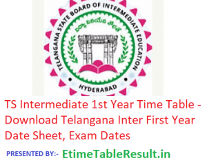 TS Intermediate 1st Year Time Table 2019 - Download Telangana Inter First Year Date Sheet, Exam Dates