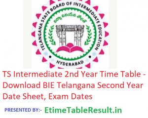TS Intermediate 2nd Year Time Table 2019 - Download BIE Telangana Inter Second Year Date Sheet, Exam Dates