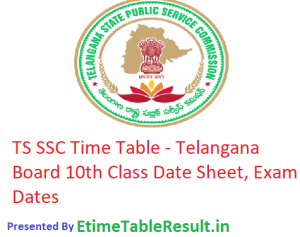 TS SSC Time Table 2019 - Telangana Board 10th Class Date Sheet, Exam Dates