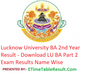 Lucknow University BA 2nd Year Result 2019 - Download LU ba Part 2 Exam Results