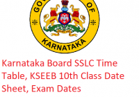 Karnataka Board SSLC Time Table 2019 - KSEEB 10th Class Date Sheet, Exam Dates