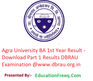 Agra University BA 1st Year Result 2019 - Download Part 1 Results DBRAU Examination