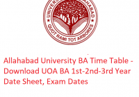 Allahabad University BA Time Table 2019 - Download 1st-2nd-3rd Year Date Sheet UOA, Exam Dates