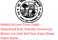 BNMU B.Com Time Table 2019 - Download BCom Part 1st-2nd-3rd Year B.N. Mandal University, Exam Dates