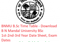 BNMU B.Sc Time Table 2019 - Download BSc Part 1st-2nd-3rd Year Date Sheet B N Mandal University, Exam Dates