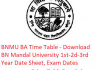 BNMU BA Time Table 2019 - Download Part 1st-2nd-3rd Year Date Sheet B.N. Mandal University, Exam Dates