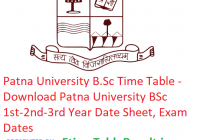Patna University B.Sc Time Table 2019 - Download Patna University BSc 1st-2nd-3rd Year Date Sheet, Exam Dates
