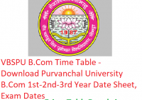 VBSPU B.Com Time Table 2019 - Download BCom Part 1st-2nd-3rd Year Date Sheet Purvanchal University, Exam Dates