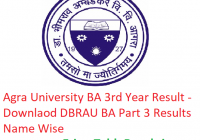 Agra University BA 3rd Year Result 2019 - Download Part 3 Results DBRAU Examination