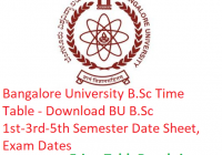 Bangalore University B.Sc Time Table 2018-19 - Download BU BSc 1st-3rd-5th Semester Date Sheet, Exam Dates