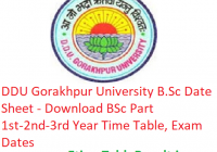 DDU Gorakhpur University B.Sc Date Sheet 2019 - Download BSc Part 1st-2nd-3rd Year Time Table, Exam Dates