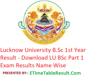 Lucknow University B.Sc 1st Year Result 2019 - Download LU BSc Part 1 Exam Results