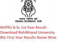 MJPRU B.Sc 1st Year Result 2019 - Download BSc First Year Exam Results Rohilkhand University