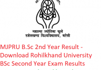 MJPRU B.Sc 2nd Year Result 2019 - Download BSc Second Year Exam Results Rohilkhand University