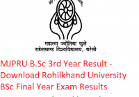 MJPRU B.Sc 3rd Year Result 2019 - Download BSc Final Year Exam Results Rohilkhand University