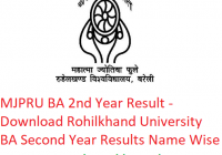 MJPRU BA 2nd Year Result 2019 - Download ba Second Year Exam Results Rohilkhand University