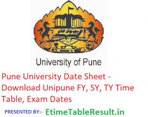 Pune University Date Sheet 2019 - Download Unipune FY SY TY Time Table, Exam Dates