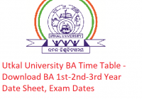 Utkal University BA Time Table 2019 - Download 1st-2nd-3rd Year Date Sheet, Exam Dates