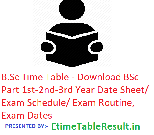 B Sc Time Table 2020 - Download BSc 1st-2nd-3rd Year Date Sheet