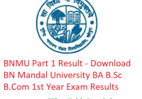 BNMU Part 1 Result 2019 - Download BA B.Sc B.Com 1st Year Results BN Mandal University Examination