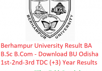 Berhampur University Result 2019 BA B.Sc B.Com - Download 1st-2nd-3rd Year TDC (+3) Results BU Odisha Exam