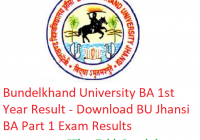 Bundelkhand University BA 1st Year Result 2019 - Download BU Jhansi Part 1 Exam Results