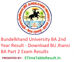 Bundelkhand University BA 2nd Year Result 2019 - Download BU Jhansi Part 2 Exam Results