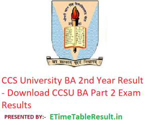 CCS University BA 2nd Year Result 2019 - Download CCSU BA Part 2 Exam Results