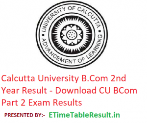 Calcutta University B.Com 2nd Year Result 2019 - Download CU BCom Part 2 Exam Results