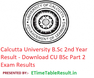 Calcutta University B.Sc 2nd Year Result 2019 - Download CU BSc Part 2 Exam Results