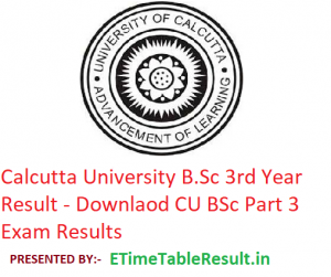 Calcutta University B.Sc 3rd Year Result 2019 - Download CU BSc Part 3 Exam Results