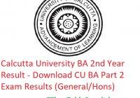 Calcutta University BA 2nd Year Result 2019 - Download CU BA Part 2 Exam Results (General/Hons)