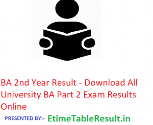 BA 2nd Year Result 2019 - Download All University ba Part 2 Exam Results Online