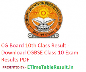 CG Board 10th Class Result 2019 - Download CGBSE Class 10 Exam Results