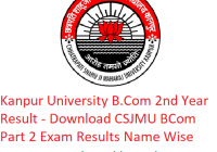 Kanpur University B.Com 2nd Year Result 2019 - Download BCom Part 2 Exam Results CSJMU