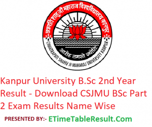 Kanpur University B.Sc 2nd Year Result 2019 - Download BSc Part 2 Exam Results CSJMU