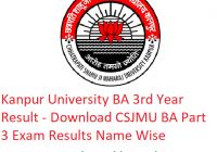 Kanpur University BA 3rd Year Result 2019 - Download ba Part 3 Exam Results CSJMU