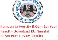 Kumaun University B.Com 1st Year Result 2019 - Download BCom Part 1 Exam Results KU Nainital