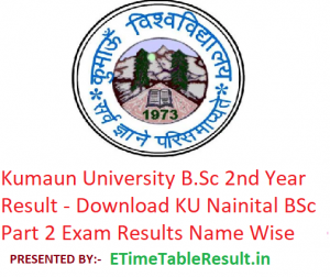 Kumaun University B.Sc 3rd Year Result 2019 - Download BSc Part 3 Exam Results KU Nainital