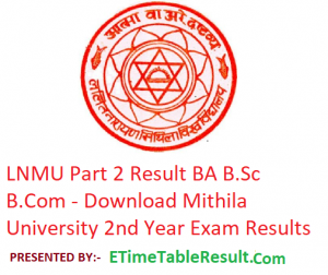 LNMU Part 2 Result 2019 - Download BA B.Sc B.Com 2nd Year Exam Results Mithila University