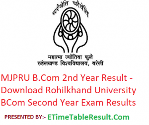 MJPRU B.Com 2nd Year Result 2019 - Download BCom Second Year Exam Results Rohilkhand University