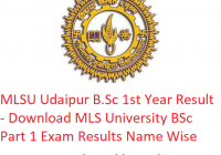 MLSU B.Sc 1st Year Result 2019 - Download BSc Part 1 Exam Results MLS University Udaipur