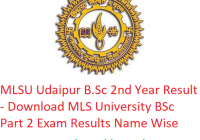 MLSU B.Sc 2nd Year Result 2019 - Download BSc Part 2 Exam Results MLS University Udaipur
