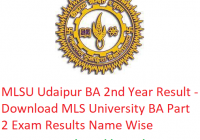 MLSU BA 2nd Year Result 2019 - Download ba Part 2 Exam Results MLS University Udaipur