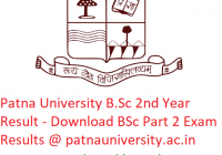 Patna University B.Sc 2nd Year Result 2019 - Download BSc Part 2 Exam Results @www.patnauniversity.ac.in