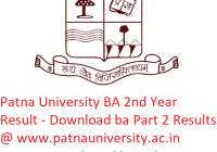 Patna University BA 2nd Year Result 2019 - Download ba Part 2 Exam Results @www.patnauniversity.ac.in