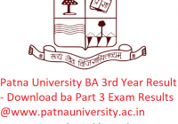 Patna University BA 3rd Year Result 2019 - Download ba Part 3 Exam Results @www.patnauniversity.ac.in