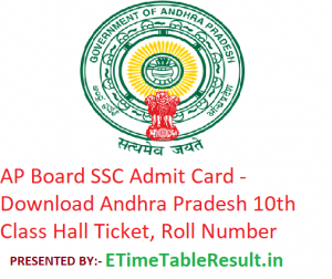 AP Board SSC Admit Card 2019 - Download BSEAP 10th Class Roll Number