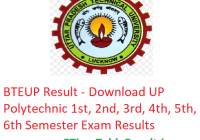 BTEUP Results 2018-19 - Download UP Polytechnic Diploma Semester Exam Results
