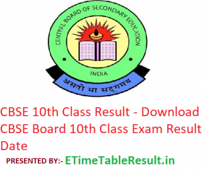 CBSE 10th Class Result 2019 - Download CBSE Board 10th Class Exam Result Date
